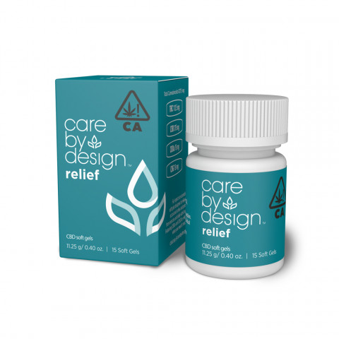 Packaging Render of Care By Design Relief Soft Gels, 15-Count